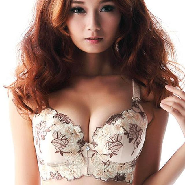 Female Design Embroidery Push Up Bra new fashion Style Size Brand elegantintotham-intotham