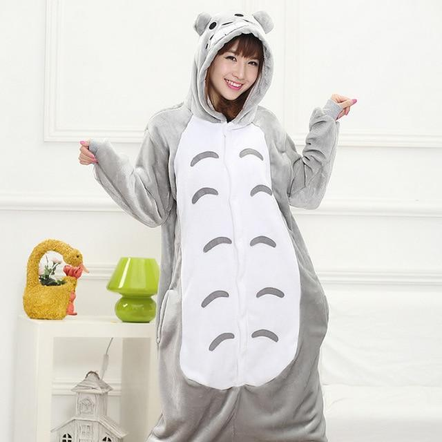 Animal Pajamas Sets Cartoon Sleepwear Cosplay Zipper Women Men Winter Unisex Flannelintotham-intotham