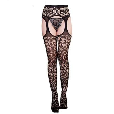 Sexy Stockings Open Crotch Plus Size Women Tight Crotchless Lenceria Femenina Meshintotham-intotham