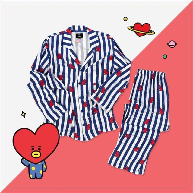 Love Yourself answer 2019 BTS Bangtan Boys Kpop Home BT21 Bedgown Sleepwearintotham-intotham