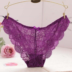 2019 Newest Sexy Lace Thongs Solid Color Panties Low-Rise Ladies Underwear Trendyintotham-intotham