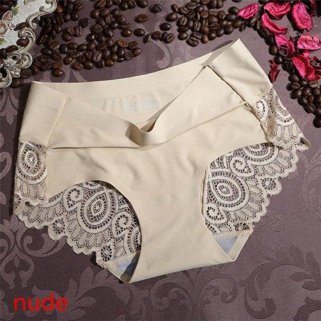 iMucci 10 Styles Lace Panties Thongs Seamless Cotton Breathable Briefs Plus Sizeintotham-intotham