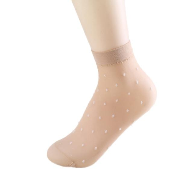 1pair Summer Ultra-thin Breathable Ultrathin Transparent Crystal Silk Socks for Women Highintotham-intotham