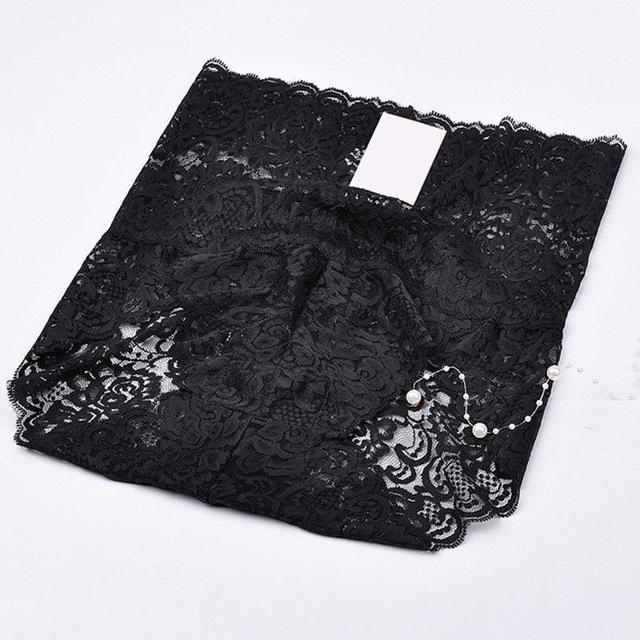 Sexy Plus Size Women's High Waist Floral Lace Panties Sexy Lingerie Underwearintotham-intotham