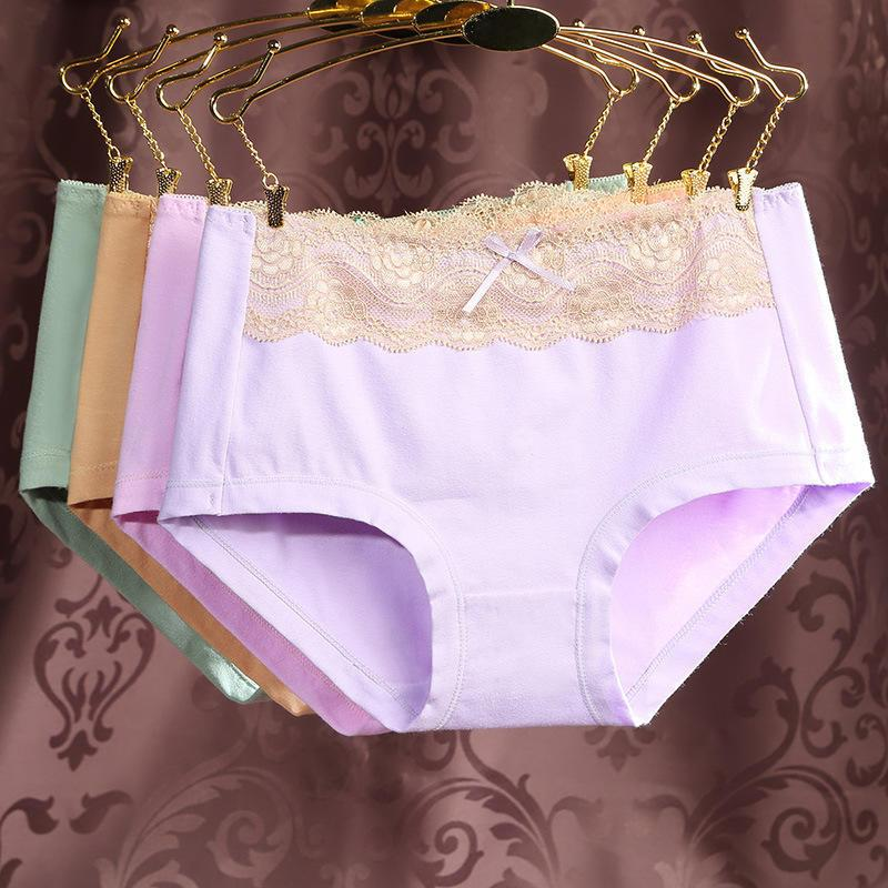 Women Big Size Underwear High Quality Girls Cotton Briefs Solid Color Seamlessintotham-intotham