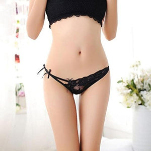 Women Sexy Elegant Lingerie Lace G-String Panty Briefs Knickers Spandex intotham-intotham