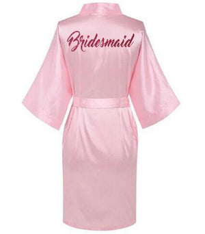Women Satin Silk robes Gown Wedding Bride robe Bridesmaid Bridal robe HP002intotham-intotham