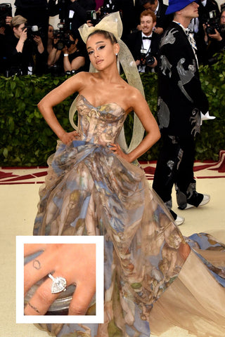 Ariana Grande's over 3 carat pear shaped diamond ring