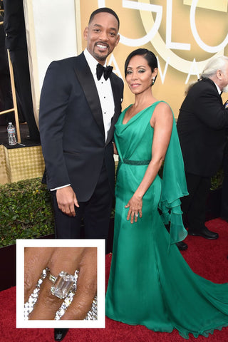 Jada Pinkett Smith's jaw dropping emerald cut diamond ring