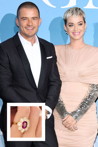 Katy Perry ruby or vivid pink engagement ring