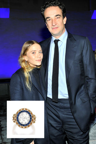 Mary-Kate Olsen Sapphire and Diamond ring