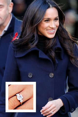 Meghan Markle three carat cushion cut diamond engagement ring