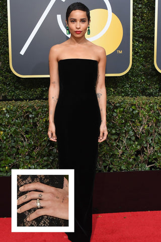 Zoe Kravitz chic engagement ring