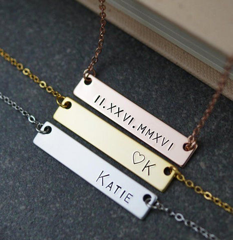 custom name plate necklace