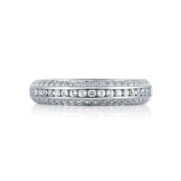 A. Jaffe Engagement Ring A. Jaffe Classic Three Row Diamond Signature Band MRS235
