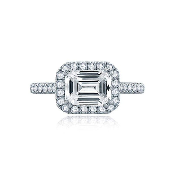 A. Jaffe Engagement Ring A. Jaffe East/West Emerald Cut Pavé Halo Ring ME2149Q