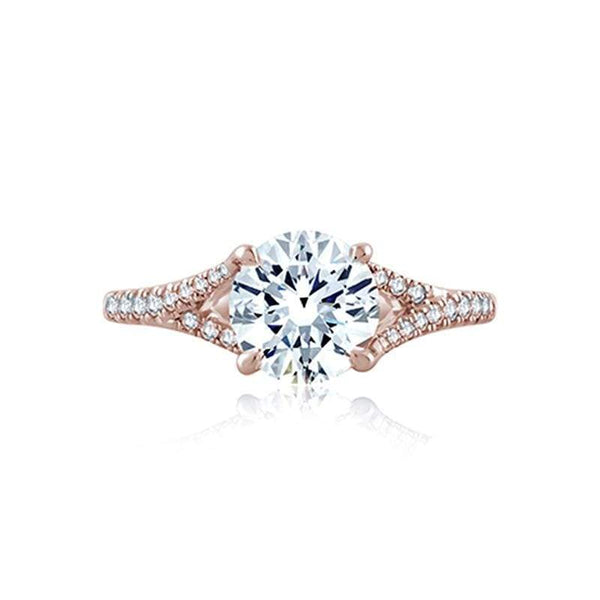 A. Jaffe Engagement Ring A. Jaffe Flowing Pavé Diamond Split Shank ME2158Q