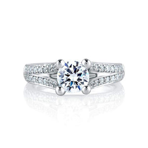 A. Jaffe Engagement Ring A. Jaffe Split Flowering Diamond Shank Engagement Ring MES017