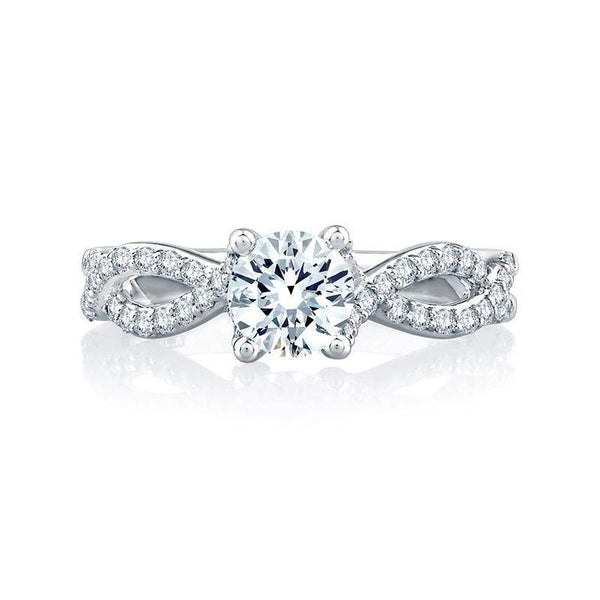A. Jaffe Engagement Ring A. Jaffe Twisted Band Signature Ring MES528