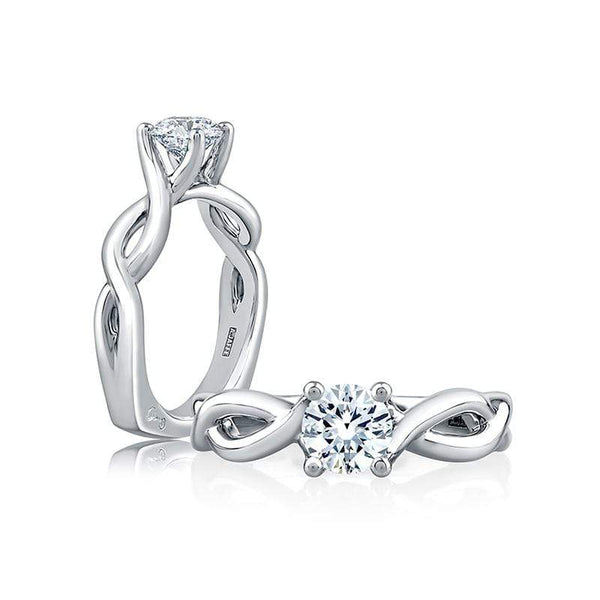 A. Jaffe Engagement Ring A. Jaffe Twisted Shank Engagement Ring MES527
