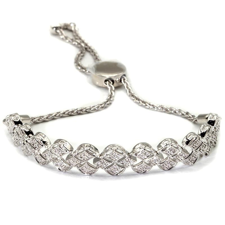 Capri Bracelet 1/3ctw Diamond 3-row Bolo Bracelet in Sterling Silver