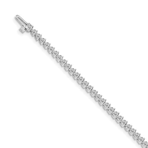 Capri Bracelet White Gold Diamond Tennis Bracelet 14K