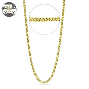 Capri Chain Franco Style Yellow Gold Chain 26 inches 2.9mm 10K