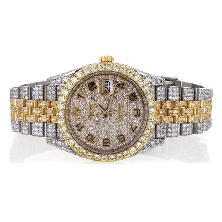 Capri Custom Watch Custom Diamond Rolex DateJust II 41MM Two-Tone Gold Face Watch