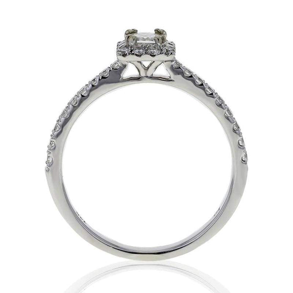 Capri Engagement Ring 0.50ctw Princess Cut Halo Ring 14K