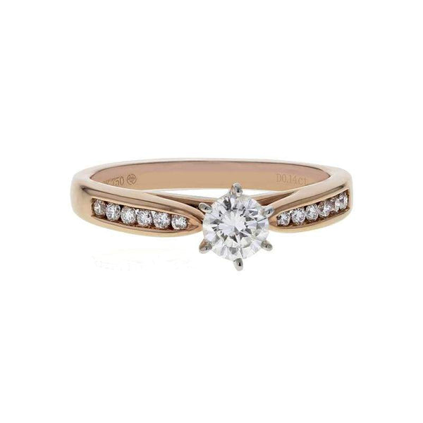 Capri Engagement Ring 0.51ctw Diamond Rose Gold Solitare Ring 18K