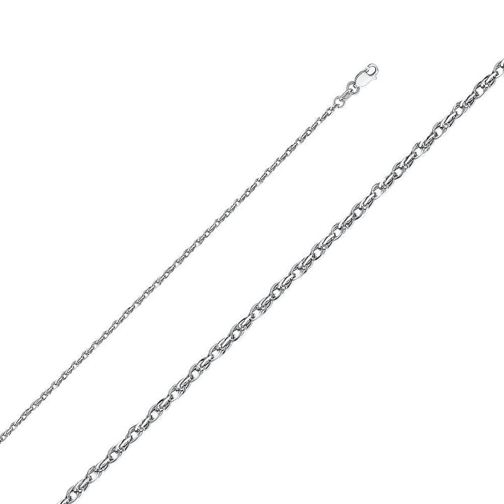Capri_L Chain Double Link Hollow Rope Chain 2.2 mm 14K White Gold