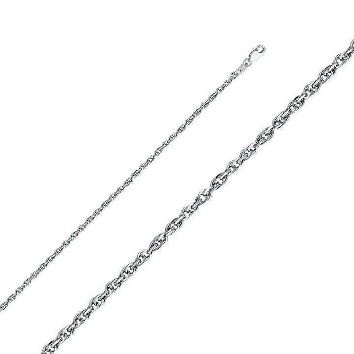 Capri_L Chain Double Link Hollow Rope Chain 2.7 mm 14K White Gold