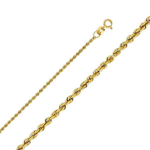 Capri_L Chain Hollow Rope Chain 1.5 mm 14K Yellow Gold