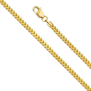 "Capri_L Chain 18"" / 6.2g Hollow Square Franco Chain 2.7 mm 14K Yellow Gold"
