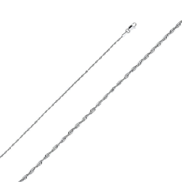 Capri_L Chain Rope Chain 1.5 mm 14K White Gold