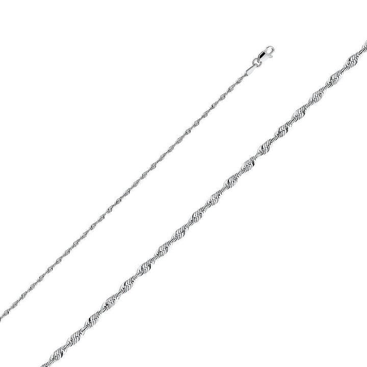 Capri_L Chain Rope Chain 2 mm 14K White Gold
