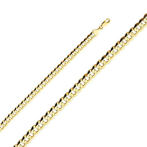 "Capri_L Mens Bracelet Cuban Concave Gold Bracelet 8.5"" / 8.2 mm 14K Yellow Gold"