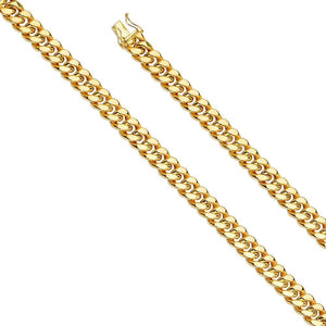 "Capri_L Mens Bracelet Hol Miami Cuban 250 w/box lock Bracelet 8.5"" / 9.4 mm Yellow Gold"