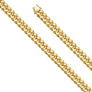 "Capri_L Mens Bracelet Hol Miami Cuban 300 w/box lock Bracelet 9"" / 12 mm Yellow Gold"