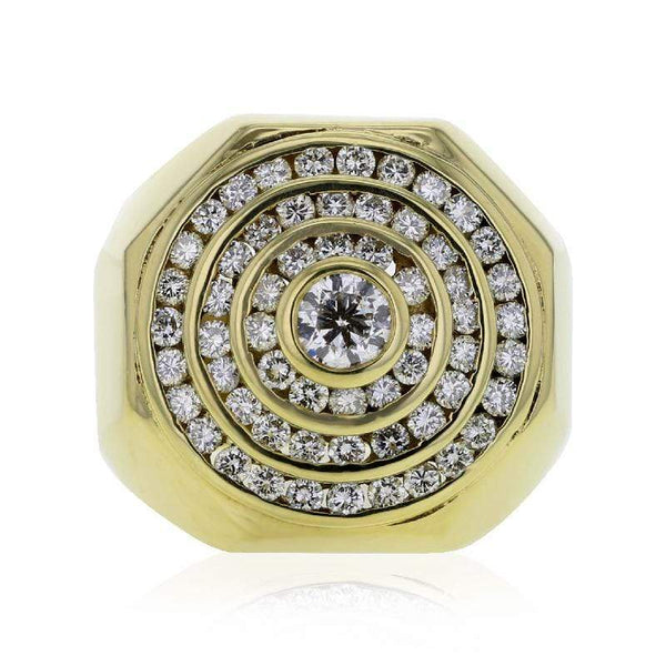 Capri Mens Ring 2.37ctw Diamond Mens Fashion Ring 18K