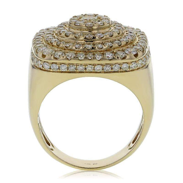 Capri Mens Ring 3.90ctw Diamond Pave Mens Fashion Ring 14K