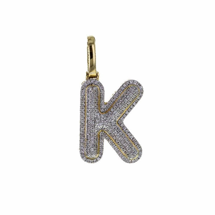 Capri Pendant 0.35ctw Diamond Bubble Letter