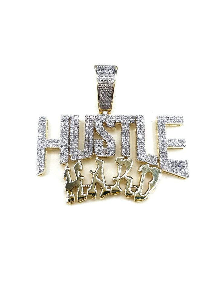 Capri Pendant Hustle Hard 0.75ctw Diamond Yellow Gold Pendant 10K