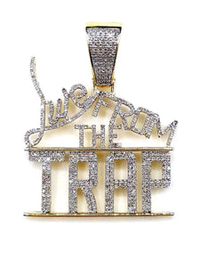 Capri Pendant Live from the Trap 0.92ctw Diamond Yellow Gold Pendant 10K
