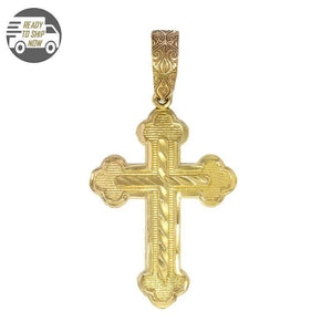 Capri Pendant Medium Gold Cross Pendant 14K