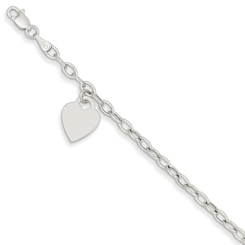 Capri_Q Bracelet White Gold Dangle Heart Bracelet 14K