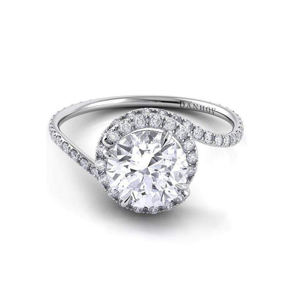 Danhov Engagement Ring Danhov Abbraccio Twisted Pave Ring AE100