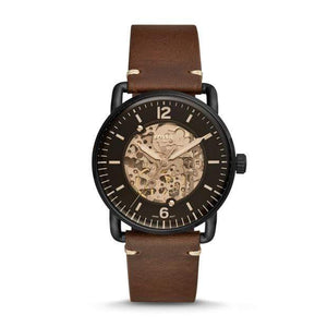 Fossil Watches Fossil Commuter Automatic Brown Leather Watch 42mm ME3158