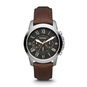 Fossil Watches Fossil Grant Chronograph Brown Leather Watch 44mm FS4813IEP