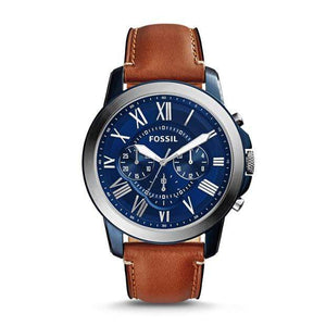 Fossil Watches Fossil Grant Chronograph Light Brown Leather Watch 44mm FS5151P